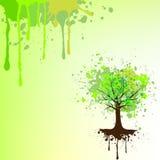 Vector el fondo del árbol Imagenes de archivo