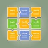 Vector el fondo del progreso/la opción o la versión de producto Foto de archivo libre de regalías