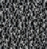 Vector el fondo del triángulo, modelo inconsútil en colores negros y grises Foto de archivo