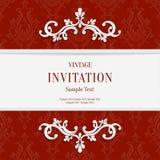 Vector el fondo floral rojo de las tarjetas de la invitación de la Navidad 3d Fotos de archivo