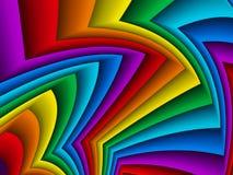 Vector el fondo geométrico brillante con las tiras de papel del arco iris Imagen de archivo