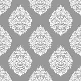 Vector el fondo inconsútil del modelo del damasco Ornamento pasado de moda de lujo clásico del damasco, victorian real inconsútil stock de ilustración