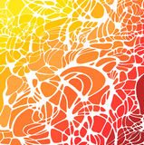 Vector el fondo a mano abstracto de las ondas, textura neta biónica floral Imagen de archivo libre de regalías