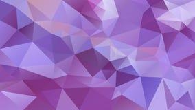 Vector el fondo poligonal irregular - modelo polivinílico bajo del triángulo - color violeta púrpura de la lavanda fresca viva Foto de archivo