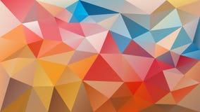 Vector el fondo poligonal irregular - modelo polivinílico bajo del triángulo - multicolor - abigarrado feliz Fotos de archivo