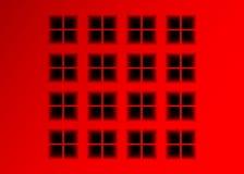 Vector el fondo rojo con las ventanas cuadradas hundidas, diseño de Infographic del arte con la figura geométrica del cuadrado ro ilustración del vector