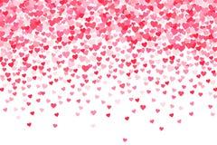 Vector el fondo rosado y rojo de los corazones de los días de tarjetas del día de San Valentín stock de ilustración