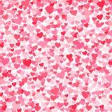 Vector el fondo rosado y rojo de los heartshapes de los días de tarjetas del día de San Valentín libre illustration