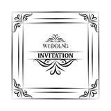Vector el fondo y el marco del vintage con el texto de la muestra, para casarse la invitación o el aviso Imagenes de archivo