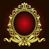 Vector el grabado del logotipo del marco de la frontera del vintage con el modelo retro del ornamento en diseño decorativo del es Foto de archivo libre de regalías