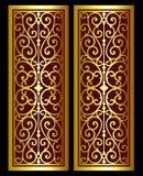 Vector el grabado del logotipo del marco de la frontera del vintage con el modelo retro del ornamento en diseño decorativo del es Imágenes de archivo libres de regalías