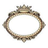 Vector el grabado del marco de la frontera del vintage con el ejemplo retro del vector del ornamento Imágenes de archivo libres de regalías