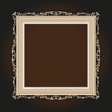 Vector el grabado del marco de la frontera del vintage con el ejemplo retro del vector del ornamento Fotos de archivo libres de regalías