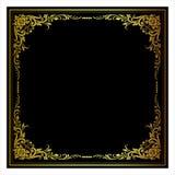 Vector el grabado del marco de la frontera del vintage con el ejemplo retro del vector del ornamento Foto de archivo