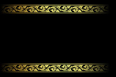Vector el grabado del marco de la frontera del vintage con el ejemplo retro del vector del ornamento Imagenes de archivo