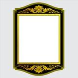 Vector el grabado del marco de la frontera del vintage con vector retro del ornamento Foto de archivo