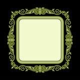 Vector el grabado del marco de la frontera del vintage con vector retro del ornamento Imagen de archivo libre de regalías