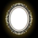 Vector el grabado del marco de la frontera del vintage con vector retro del ornamento Fotografía de archivo libre de regalías