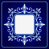 Vector el grabado del marco de la frontera del vintage con vector retro del ornamento Imágenes de archivo libres de regalías