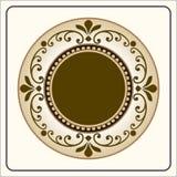 Vector el grabado del marco de la frontera del vintage con vector retro del ornamento Fotografía de archivo