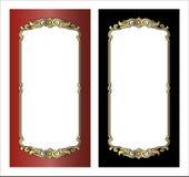 Vector el grabado del marco de la frontera del vintage con vector retro del ornamento Fotos de archivo