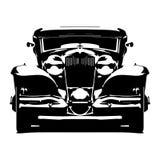 Vector el hotrod diseñado retro de la silueta hola-detallada aislado en el fondo blanco ilustración del vector