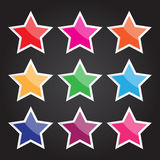 Vector el icono de la estrella para el diseño y el trabajo creativo Fotografía de archivo