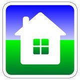 Vector el icono/el botón de la casa ilustración del vector