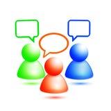 Vector el icono social de la red Imagenes de archivo