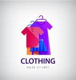 Vector el logotipo de la ropa, tienda en línea, icono de la moda stock de ilustración