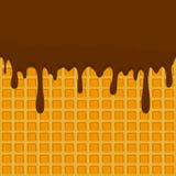 Vector el logotipo del ejemplo del icono para el chocolate del goteo que cae en swee Imagen de archivo libre de regalías
