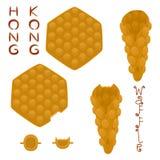 Vector el logotipo del ejemplo del icono para el diverso wa dulce de Hong Kong del sistema Foto de archivo libre de regalías