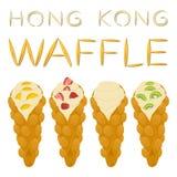 Vector el logotipo del ejemplo del icono para el diverso wa dulce de Hong Kong del sistema Imagen de archivo libre de regalías
