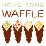 Vector el logotipo del ejemplo del icono para el diverso wa dulce de Hong Kong del sistema Fotos de archivo libres de regalías