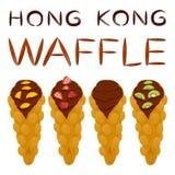 Vector el logotipo del ejemplo del icono para el diverso wa dulce de Hong Kong del sistema Fotografía de archivo libre de regalías