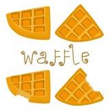 Vector el logotipo del ejemplo del icono para las diversas galletas dulces del sistema Imagen de archivo libre de regalías