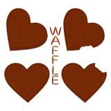 Vector el logotipo del ejemplo del icono para las diversas galletas dulces del sistema Fotos de archivo libres de regalías