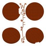 Vector el logotipo del ejemplo del icono para las diversas galletas dulces del sistema Fotografía de archivo libre de regalías