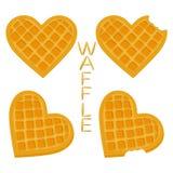 Vector el logotipo del ejemplo del icono para las diversas galletas dulces del sistema Imágenes de archivo libres de regalías