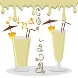 Vector el logotipo del ejemplo para el colada del pina de los cócteles del alcohol libre illustration