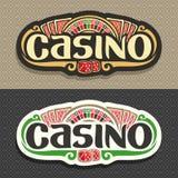 Vector el logotipo para el club del casino en fondo geométrico Imagen de archivo