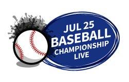 Vector el lugar del fondo del proyector del marcador del deporte del softball del béisbol para el anuncio del texto de la copia B libre illustration