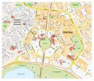 Vector el mapa de camino de Canberra central, Australia ilustración del vector