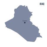 Vector el mapa de Iraq aisló en el fondo blanco Imagenes de archivo
