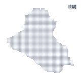 Vector el mapa de pixel de Iraq aisló en el fondo blanco Foto de archivo libre de regalías