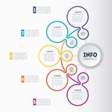 Vector el mapa dinámico del infographics o de mente de la tecnología o del educati stock de ilustración