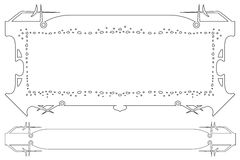 Vector el marco abstracto del límite y de las plantas ilustración del vector