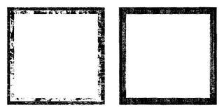 Vector el marco cuadrado, negro con la desolación de los elementos, textura de la suciedad Efecto del Grunge Sistema de la fronte ilustración del vector