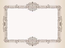 Vector el marco de la vendimia. adorna el documento real Imágenes de archivo libres de regalías