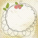 Marco floral del doodle del vector Foto de archivo libre de regalías